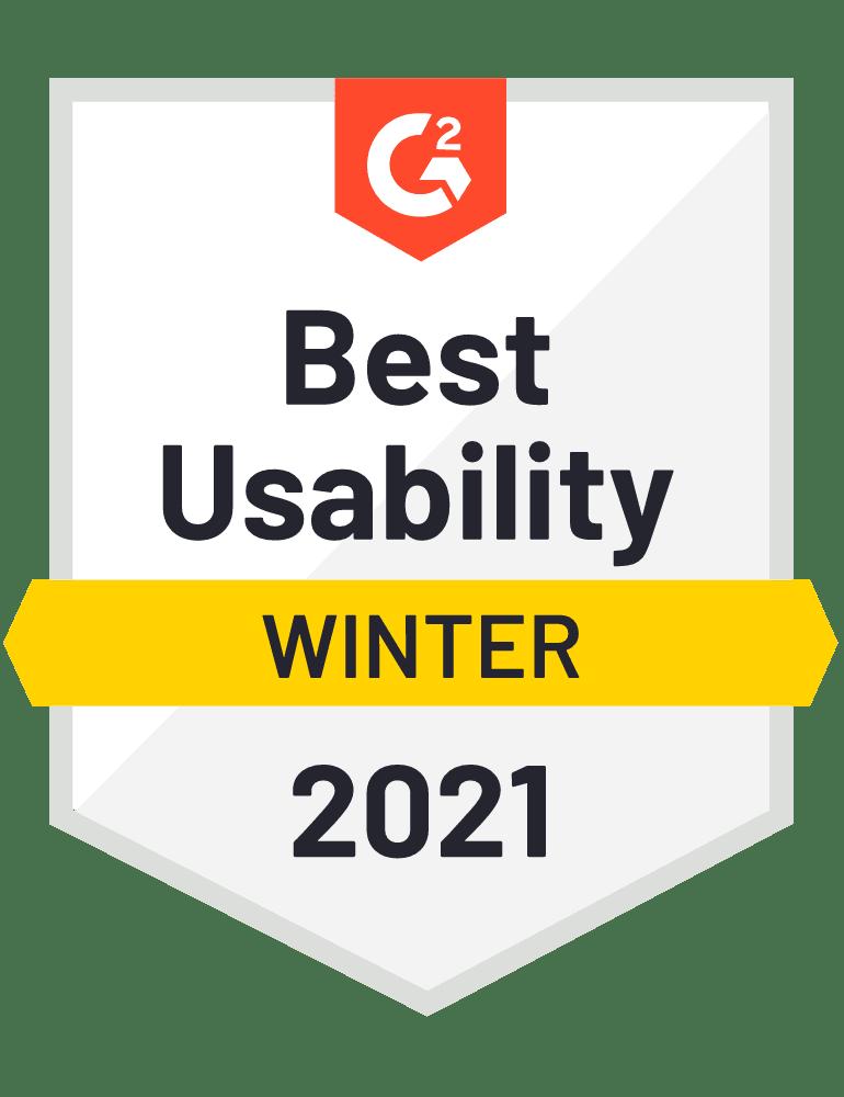 Best Usability G2
